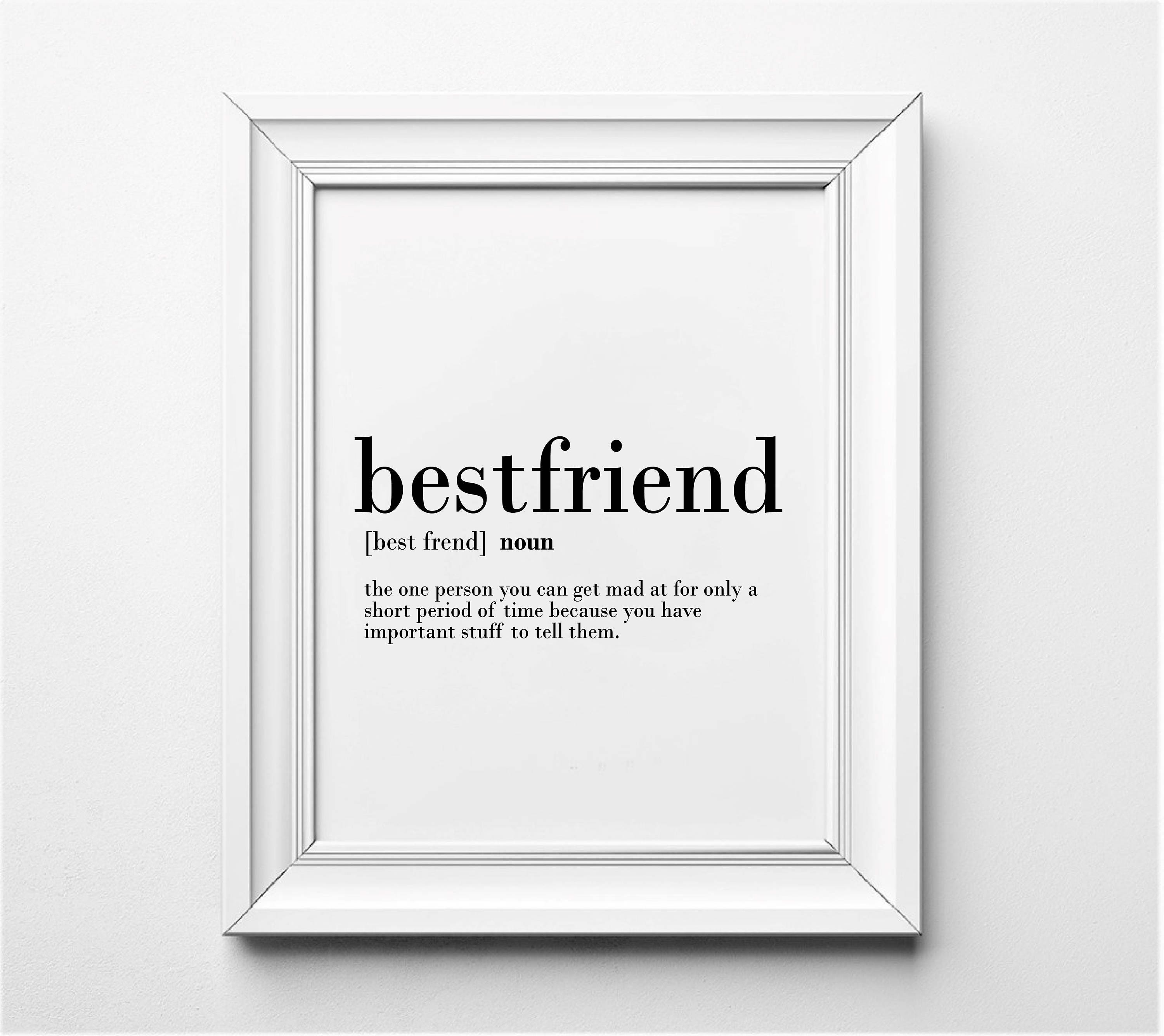best friends definition funny gift idea for best friends | etsy