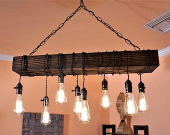 farmhouse chandelier-wood chandelier-rustic chandeliers-chandelier