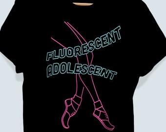 Arctic Monkeys Inspired Shirt Fluorescent Adolescent Graphic T Shirt Arctic Monkeys Neon TShirt Alex Turner Favourite Worst Nightmare Merch
