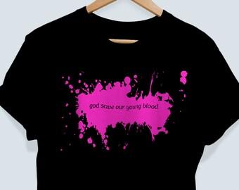 God save our young blood Shirt Børns Inspired TShirt Børns Shirts Electric Love Tee Børns T-Shirt Borns Lana Del Rey Dopamine Band Tee