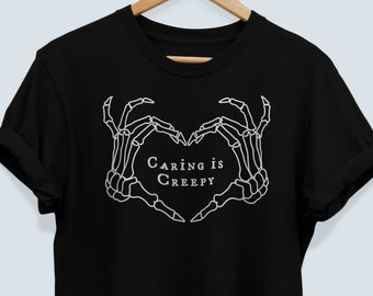 The Shins Inspired Shirt Caring is Creepy Tee The Shins Tee TheShins TShirt Band T-Shirt The Shins T Shirt Goth Halloween