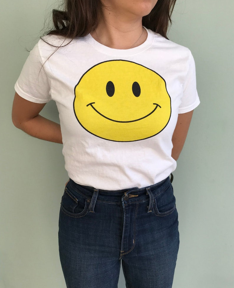 Happy Face Shirt Graphic Tees for Women Smiley Face T Shirt image 0
