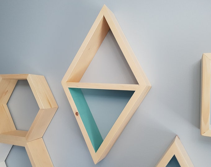 Stained Triangle Shelf - Floating Shelve - Geometric Shelves - Geometric Nursery - Bedroom Decor - Housewarming