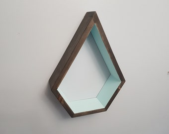 Stained Dimond Shelf - Floating Shelve - Geometric Shelves - Geometric Nursery - Bedroom Decor - Housewarming