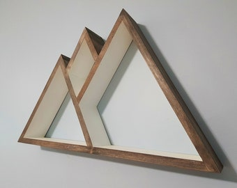 Stained Mountain Shelf - Floating Shelve - Geometric Shelves - Geometric Nursery - Bedroom Decor - Housewarming