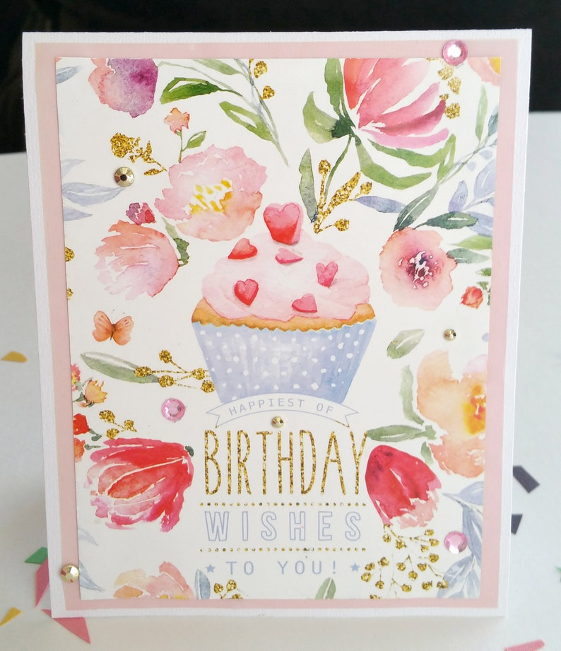 Happy Birthday Card Make A Wish Friend Mom Sister Time To Etsy