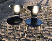 SOLD Pair of Fritz Hansen 3105 Mosquito Munkegaard Chairs by Arne Jacobsen Rare 1950s Made In Denmark SOLD