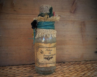 Potions, apothecary bottle, flask for witch