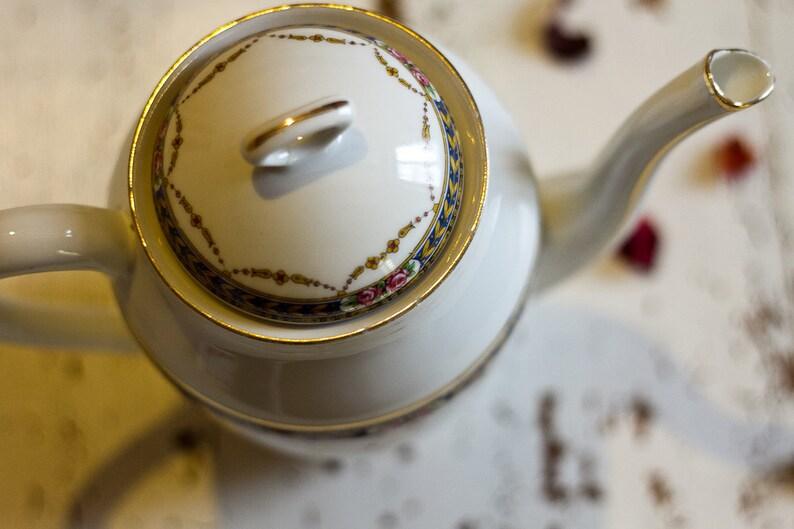 coffee pot Limoges porcelain Made in France Coffee pot and Limoges porcelain milk jug creamer coffee