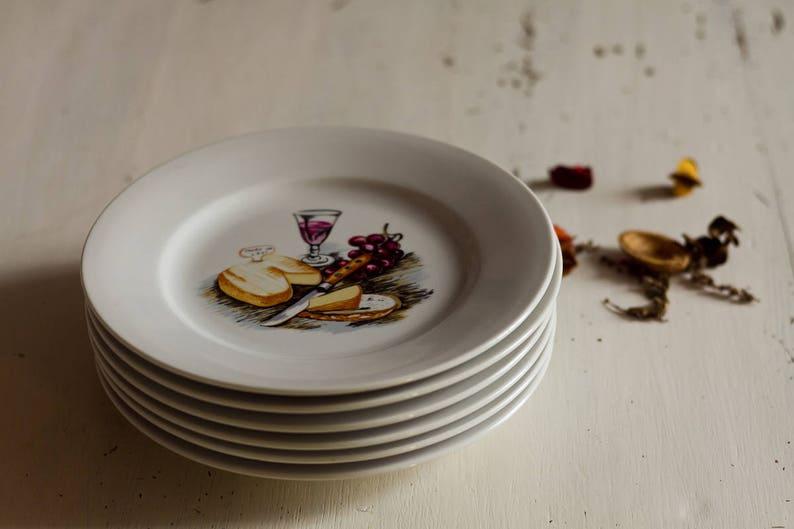 6 Dessert Plates Decor Patterns French Ceramic French Etsy