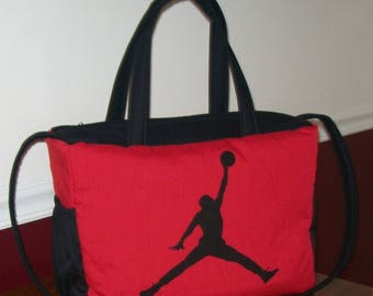 6467faebef6f54 NBA MICHAEL JORDAN Diaper Bag red black