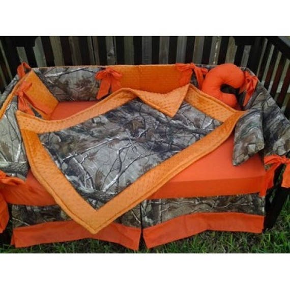 Real Tree Camo Custom Made Full Crib Bedding Set Etsy