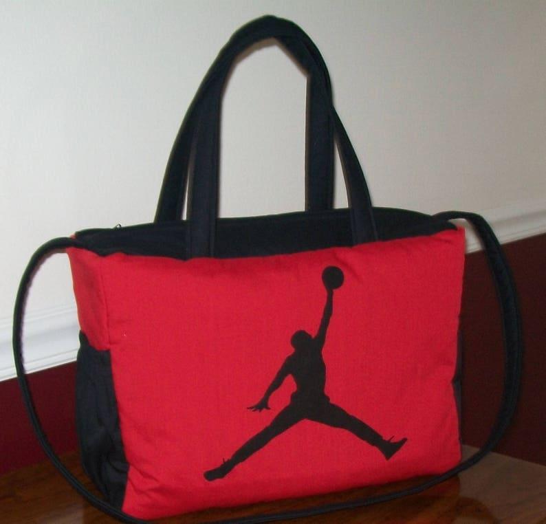 410cd29a695137 NBA MICHAEL JORDAN Diaper Bag red black