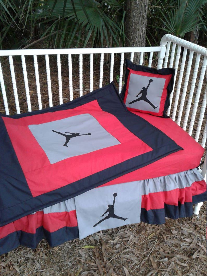 best sneakers bbe0a 62f75 New 5 Piece Jumpman Michael Air Jordan Nike Grey  Red Black   Etsy