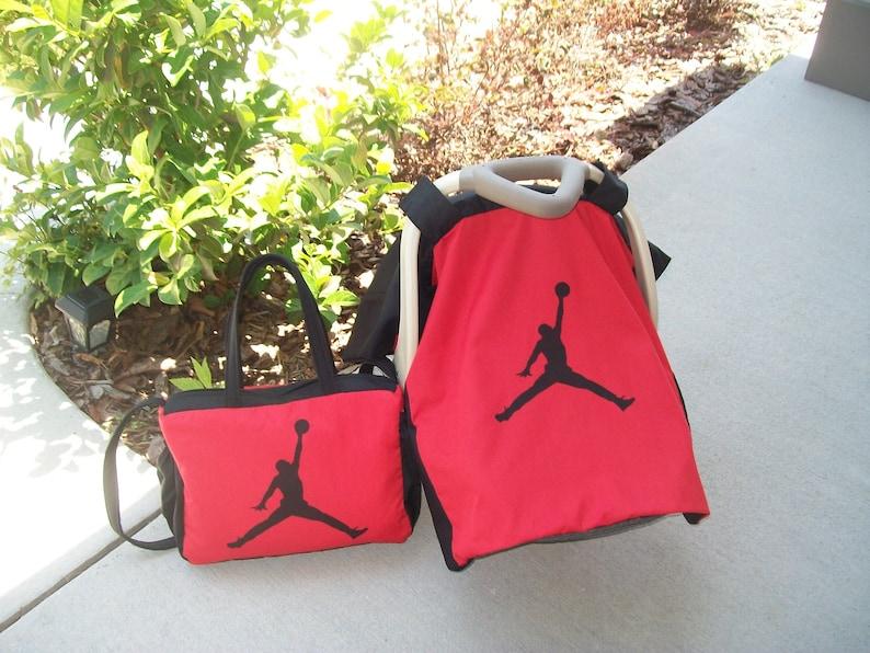 b50f830ead4033 New NBA MICHAEL JORDAN Jumpman Diaper Bag   Infant Car Seat