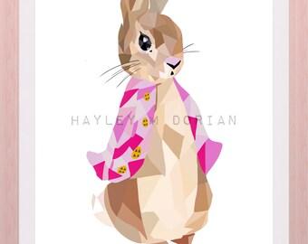 Peter Rabbit Style Painting (print)