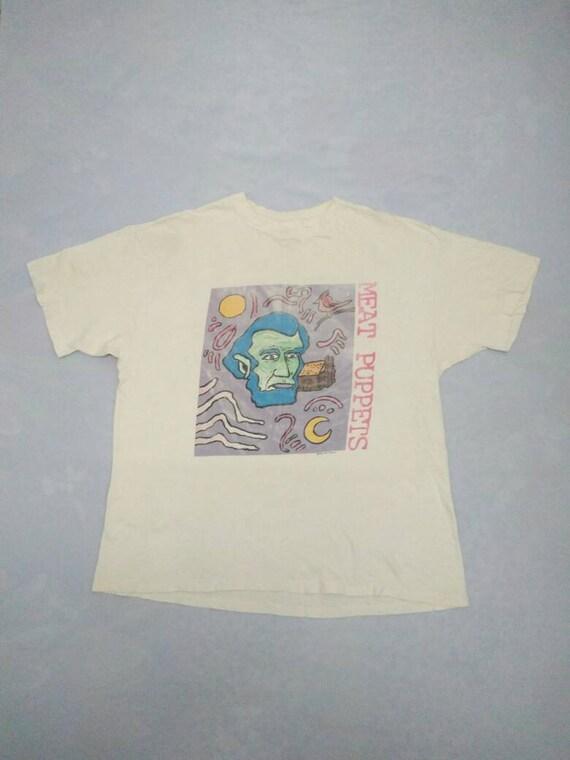 Vintage 90's Vintage Rare Shirt Puppets 1990 Shirt XLarge Vintage Shirt Grunge Size Shirt 90's Meat Vintage Original ZUEqWa8E