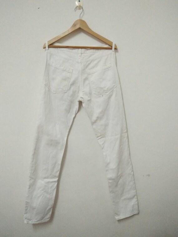 90's by RAF Simon white Designer Italy Fashion in Rare Designer Brands Jeans Made Raf Y61xdB