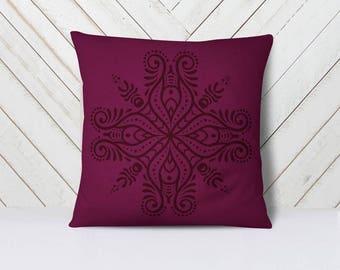 Mandala throw pillow cover