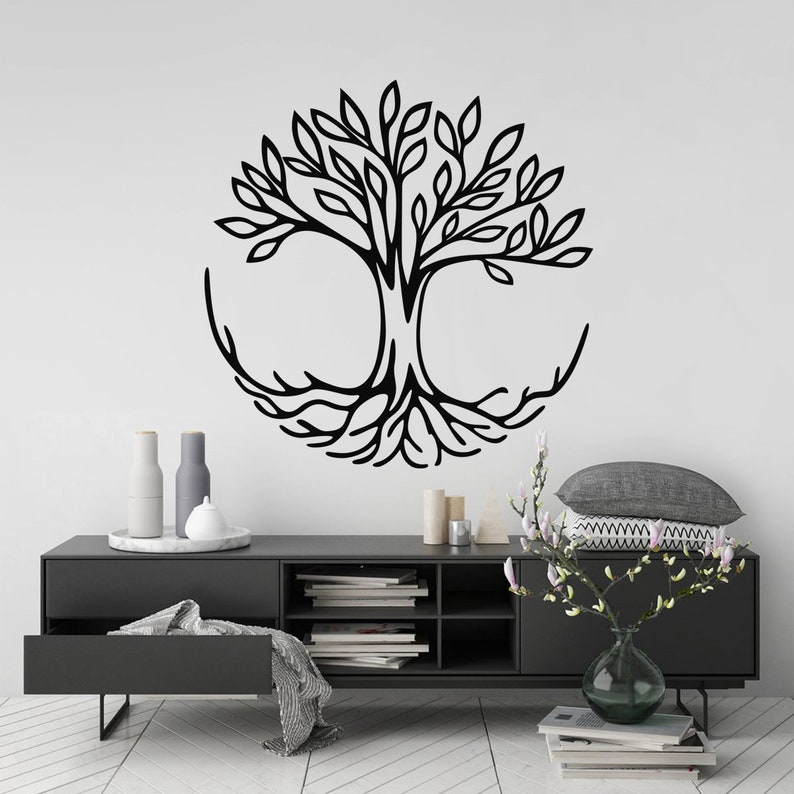 tree wall art sticker tree of life room decor spiritual | etsy