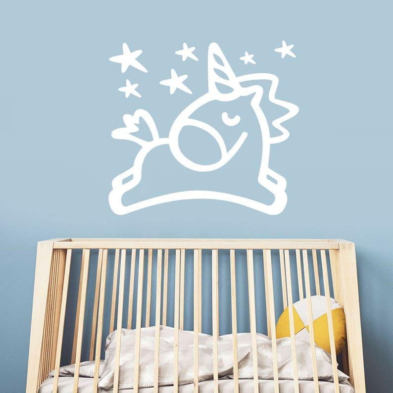 2b82fbf9e33c Unicorn Wall Decal Over Bed Decor Unicorn Girl Nursery New