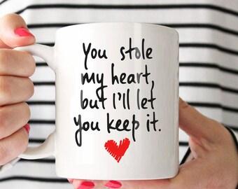 Cute Mug For Him Romantic Mug Coffee Mug Quotes For Husband Etsy