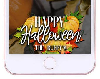 CUSTOMIZABLE Halloween Geofilter - Autumn, Fall leaves, Halloween party, costume party, october