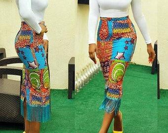 African Skirt Etsy