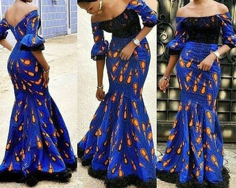 African print dress African dresses African mermaid dress African clothing  Ankara mermaid dress African print dress for women African cloth 28931e242809