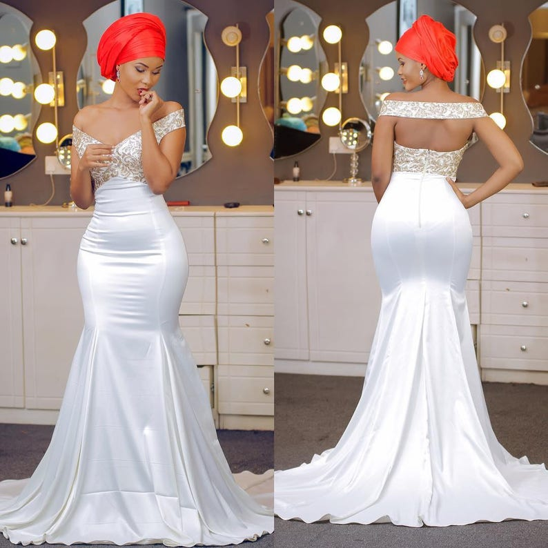 bd616fd9ebbd Mermaid Dress / Mermaid Gown / Prom gown / Wedding Dress / | Etsy