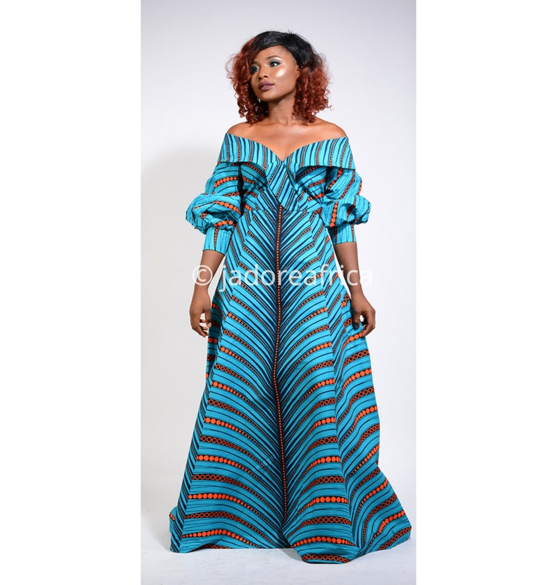 b7627cc870a9b African dress / Off shoulder african dress / African maxi | Etsy