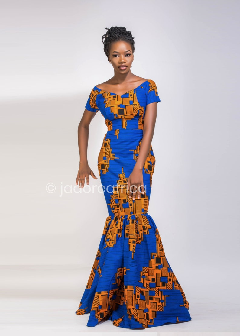 7d0e51ed842 African print occasion dress   African prom dress   African