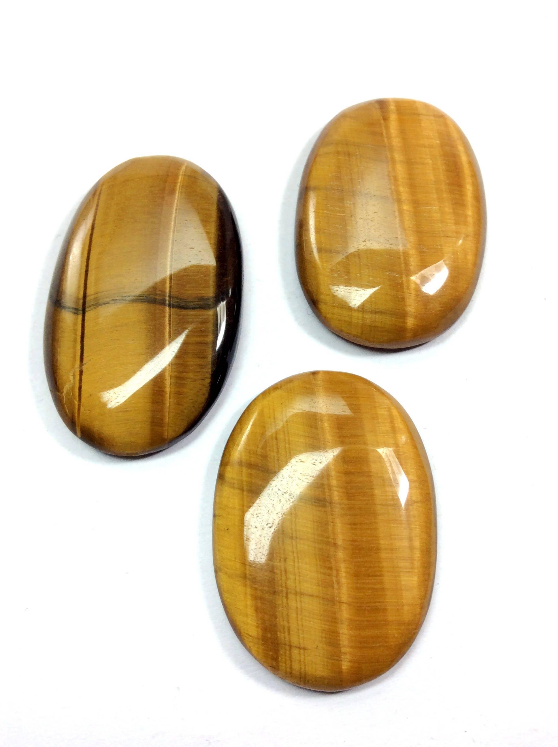 Pierre de de forme ovale de de cabochons d'oeil de tigre 40 à 45mm 6999f7