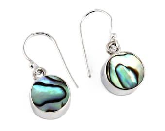 Abalone shell silver earrings