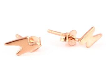 92.5 sterling silver rose gold earring (Z shape earring)