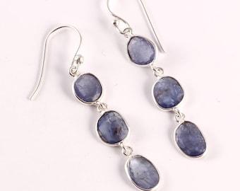 Tanzanite 92.5 sterling silver earring