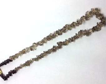 Natural uncut mix beads necklace 17 inch