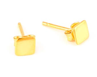 92.5 sterling silver earring (square shape earring)