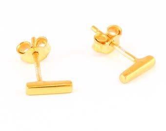 92.5 sterling silver gold plated earring