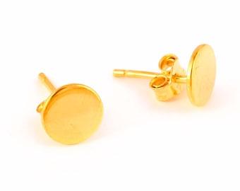 92.5 sterling silver earring (Round shape earring)