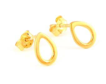 92.5 sterling silver earring (Drop shape earring)