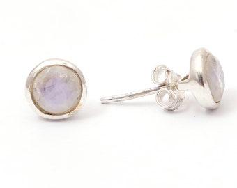 Rainbow moon 92.5 sterling silver earring