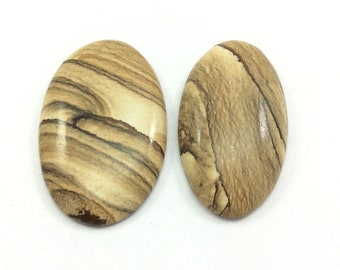 Scenery jasper cabochons gemstone size 44 to 46mm