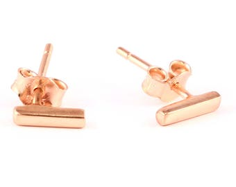 92.5 sterling silver rose gold plated earring