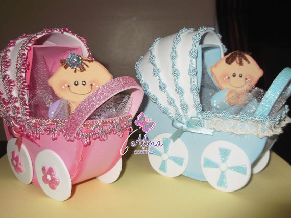 CARREOLA O COCHE PARA BABY SHOWER EN FOAMY O