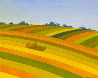 Crops (Plony) Giclée Print