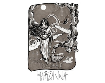 Marzanna A4 Giclée Print
