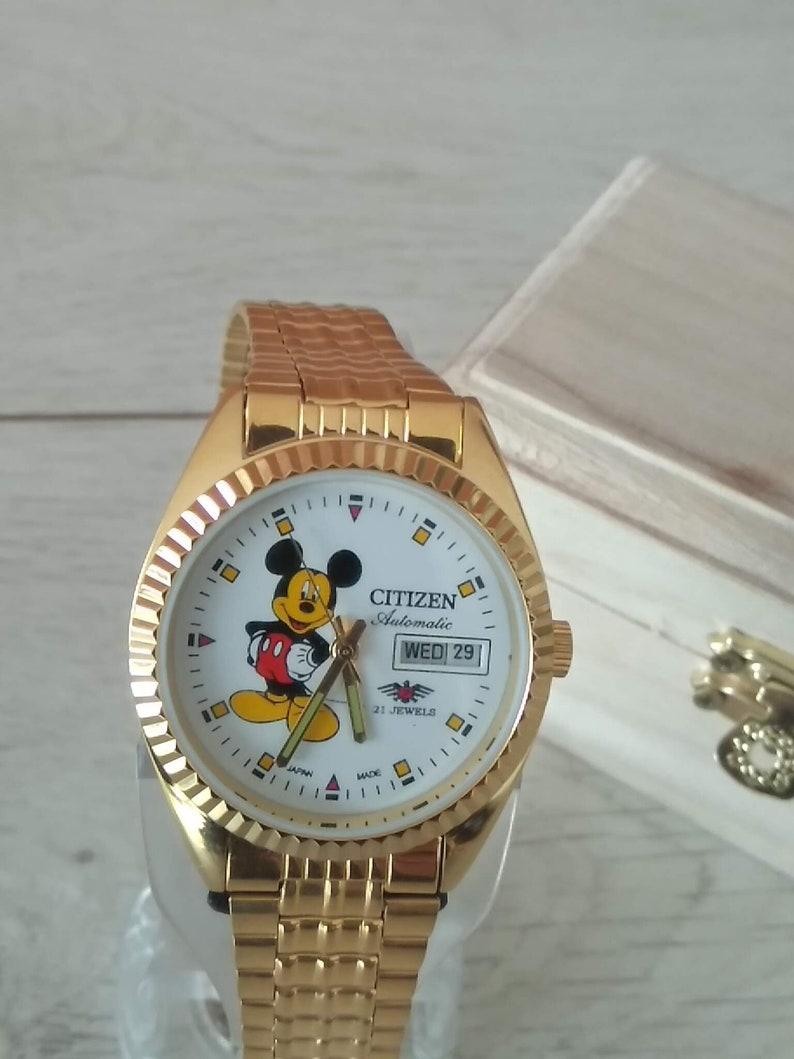 5fcc141e31 Montre Disney Mickey Mouse automatique Citizen D & calibre D   Etsy