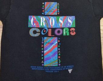 81988fa3517 Vintage 90s Cross Colors Jesus Christian version of Cross Colours Parody  Shirt size Large L