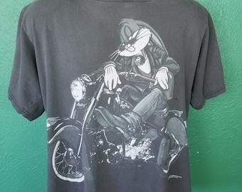 9a1bda83e3a8 Vintage 90s Bugs Bunny Harley Davidson Looney Tunes Biker Motorcycle shirt  XL